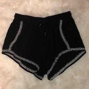 Bethany Mota Black and White Shorts